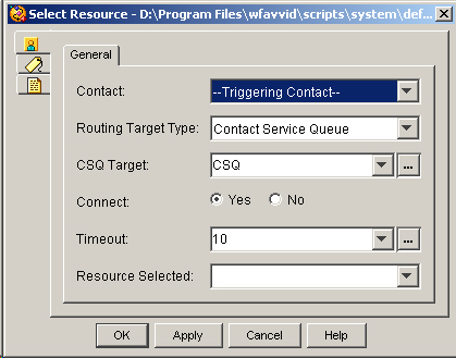 The Select Resource Step - Contact Center Express - Document